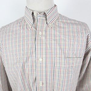 Orvis Large Shirt Checkered Button Front L/S